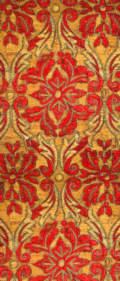 18th Century Graphic Textile Antique Spanish Antique Textiles