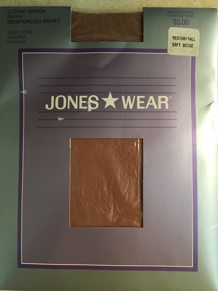 Vintage Jones Wear Med/Tall Soft Beige Nylon Control Top Sandalfoot Pantyhose  | eBay
