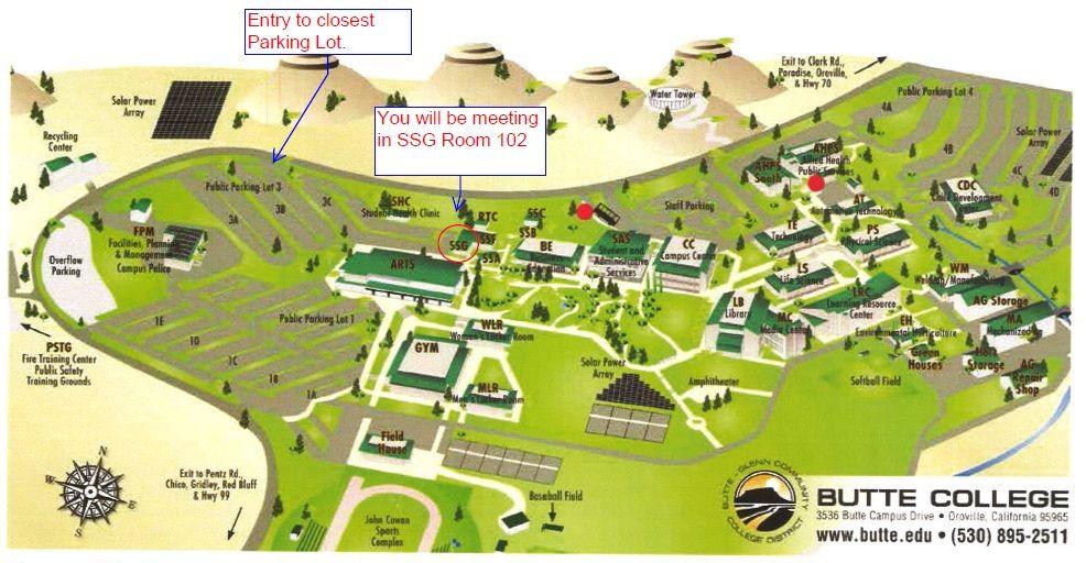 Butte College Map | compressportnederland