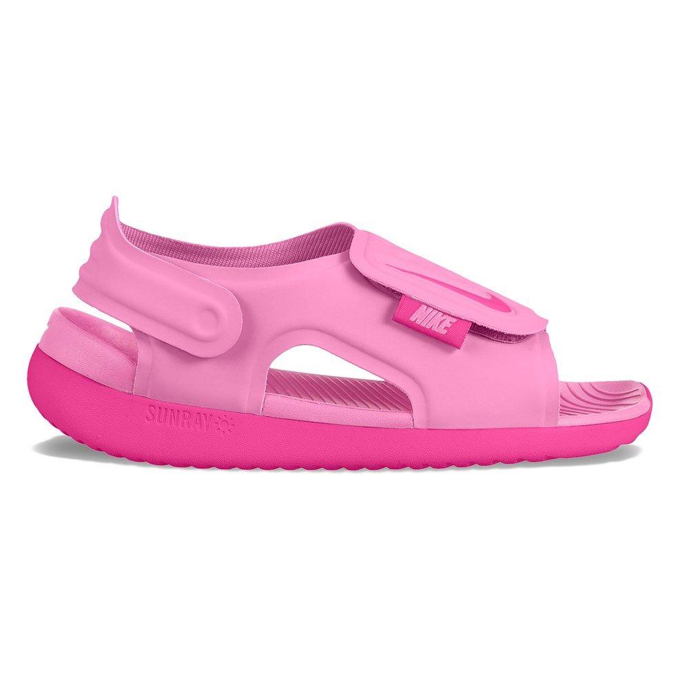 newest fe58f 0bc0c Nike Sunray Adjust 5 Girls Sandals, Size 12, Dark Red