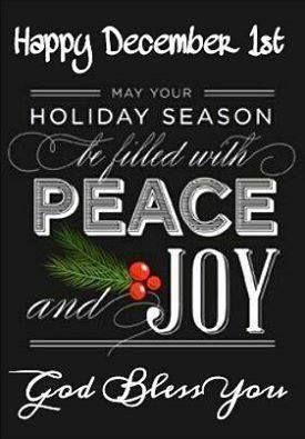 Happy December 1st Merry Little Christmas Christmas Holidays Christmas Magic