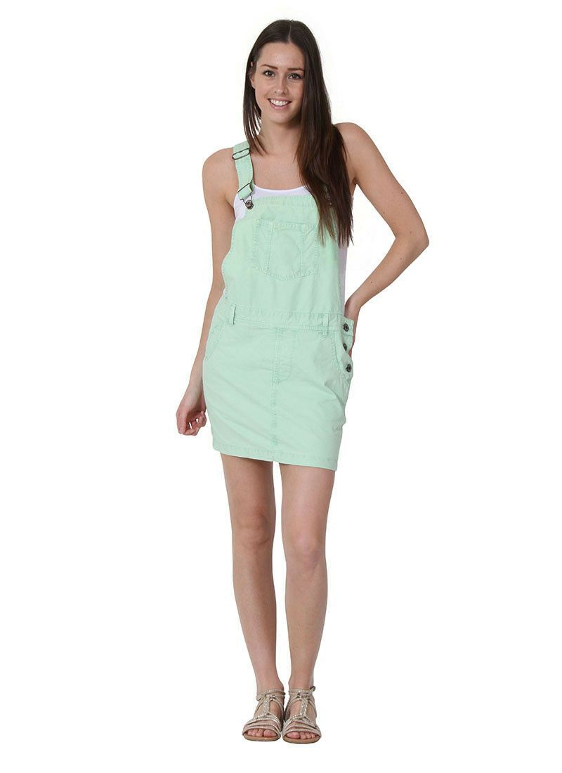 Short Oversized Dungaree Overall Dress Loose Fit Mint Green Overall Dress Ladies Dungarees Loose Outfit [ 1100 x 800 Pixel ]