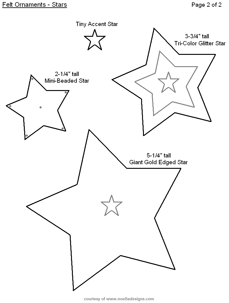 Free Printable Felt Christmas Ornament Templates | Sewing Classes ...