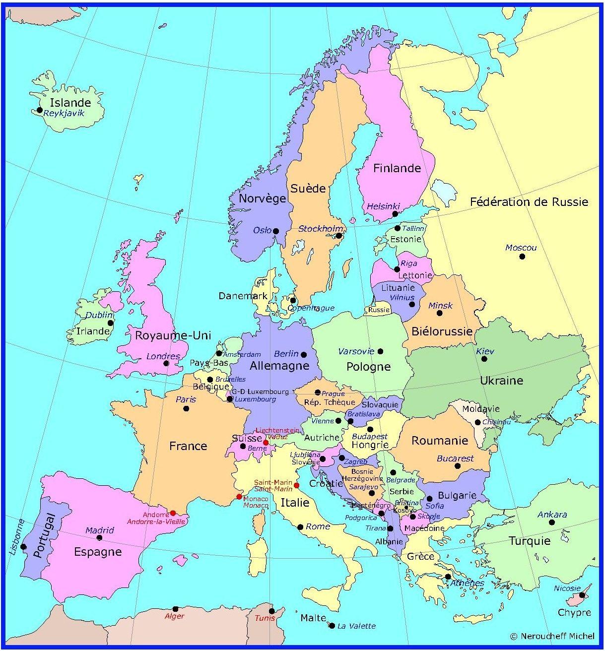 carte capitales des pays d 39 europe a m moriser pinterest. Black Bedroom Furniture Sets. Home Design Ideas