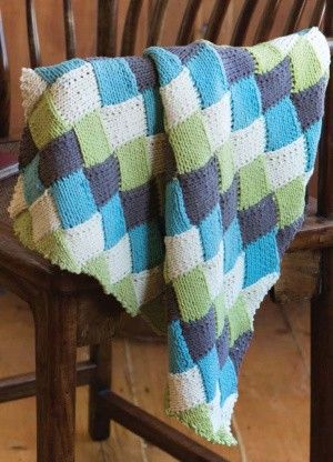 Loom Knit Entrelac Baby Blanket #Loom #LoomKnit #Knit ...