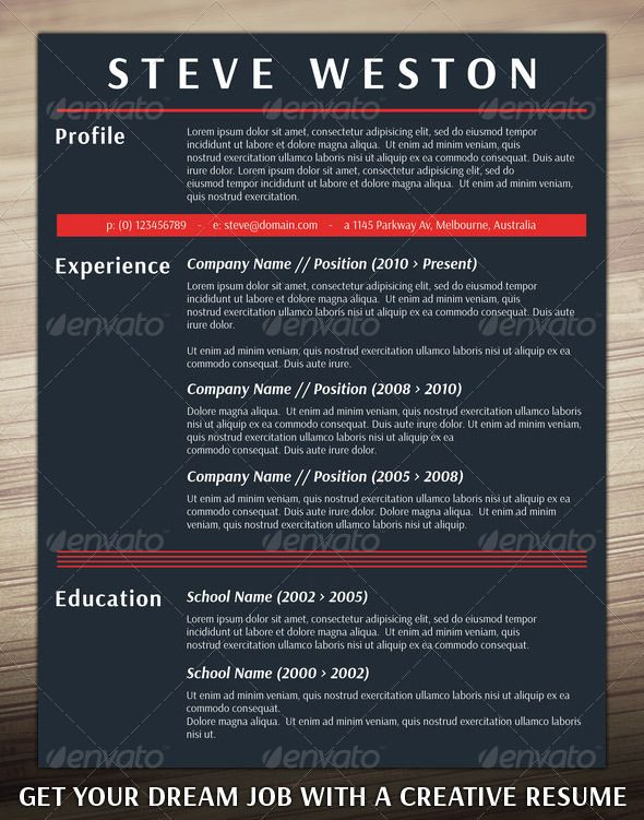 Bold CV Template Cv template, Bald hairstyles and Simple resume