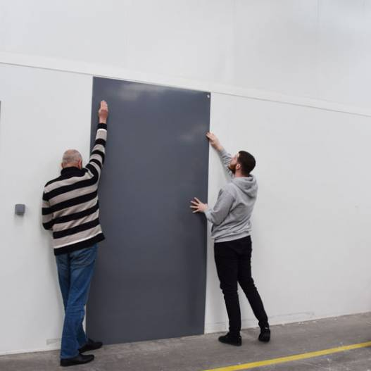 Plaque Pvc Grise Rigide Brillante Pour Renover Vos Murs Plaque Pvc Habillage Mural Pvc