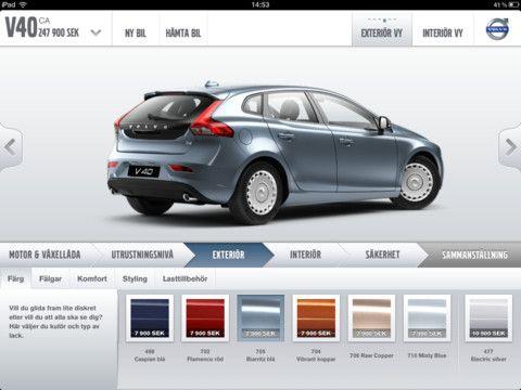 New Volvo Ipad App Bygg Din Volvo V1 0 Car Configurator