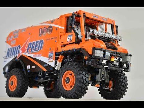 Lego Technic Moc Rc Mercedes U400 Dakar 4x4 Truck Youtube Lego