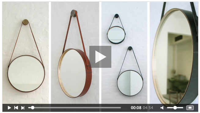 Diy Hanging Round Mirror With Leather Strap Aka Captain