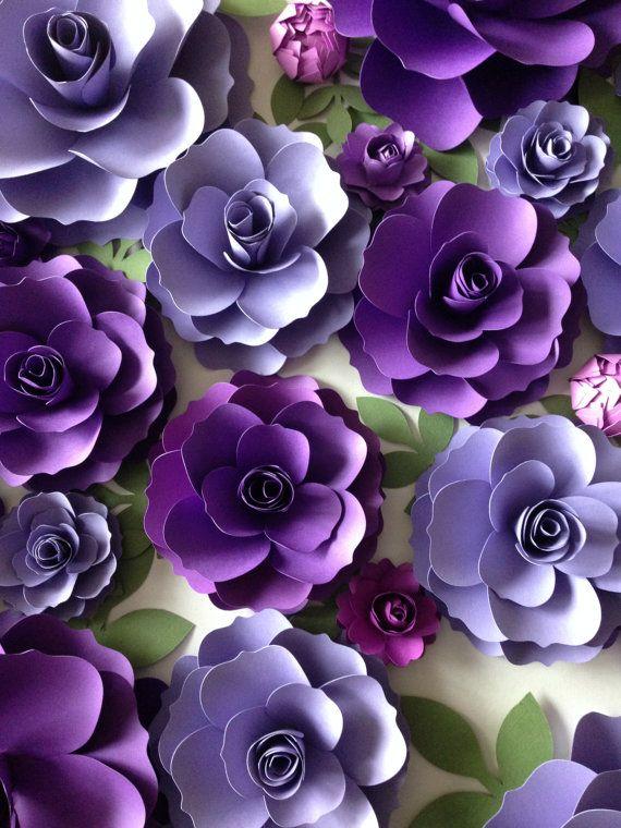 Purple paper flowers wedding arch decor flower backdrop purple paper flowers wedding arch decor flower backdrop wedding flowers bridal shower mightylinksfo