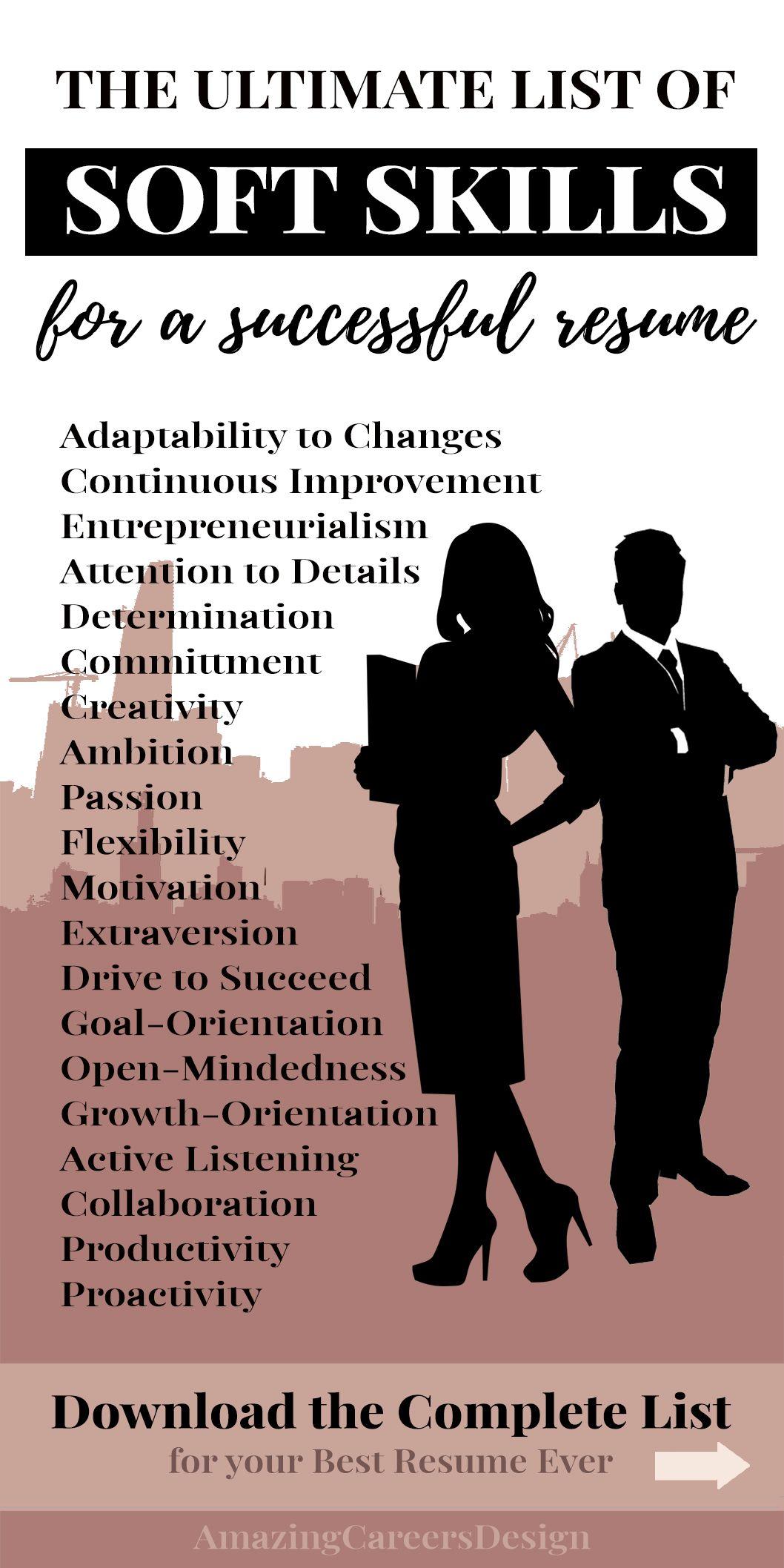 Soft Skills Resume Tips Soft Skills Examples For Resume Skill Section Best Guide For Skills On Resume How To Write A Resume Resume Skills Section Soft Skills Resume Skills