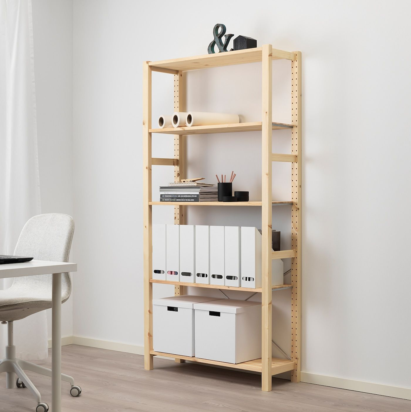 Ikea Scaffali Legno Ivar ivar scaffale - pino 89x30x179 cm nel 2020 | idee scaffale