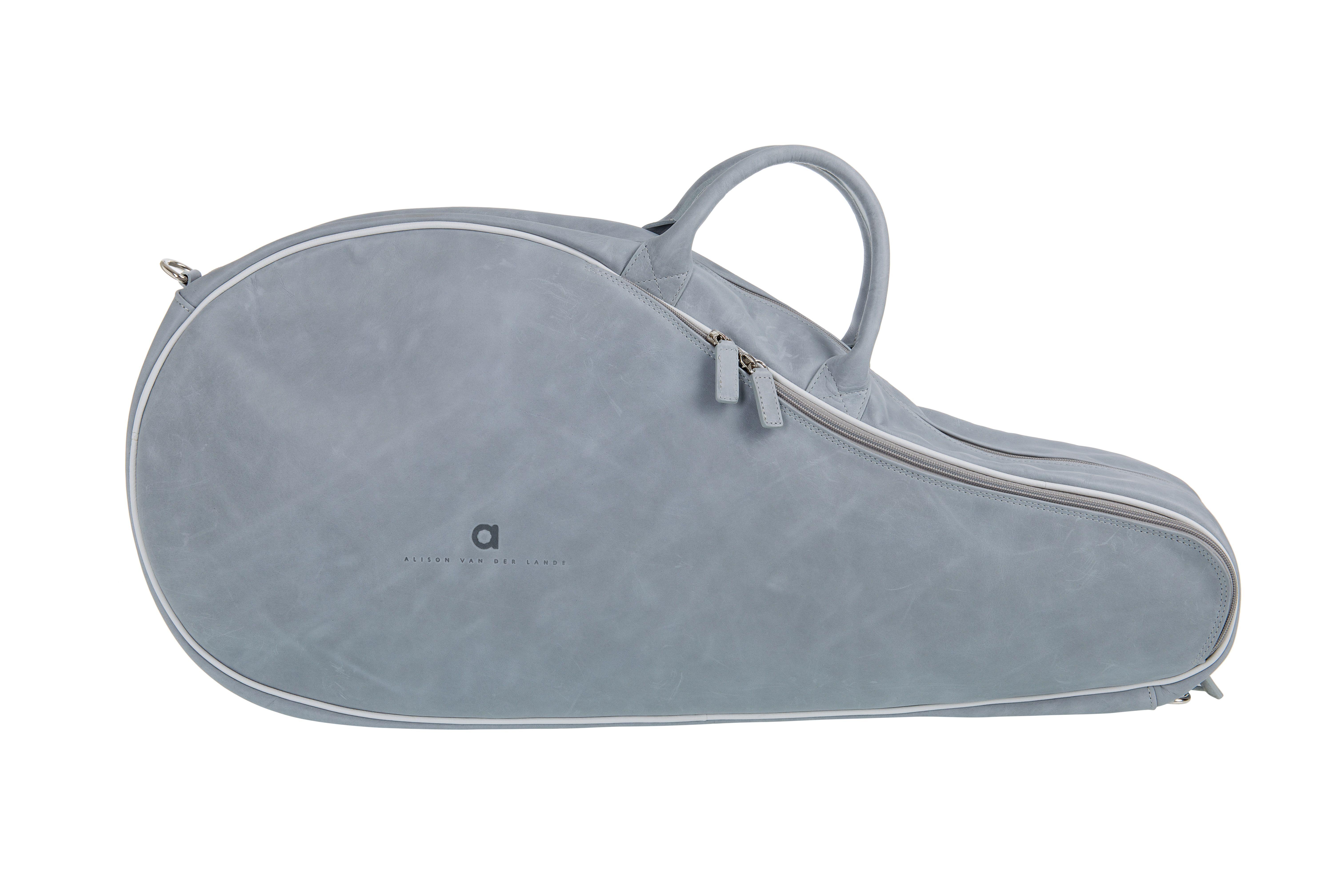 Five Questions With Luxury Tennis Bag Designer Alison Van Der Lande Tennis Bag Bags Designer Badminton Bag