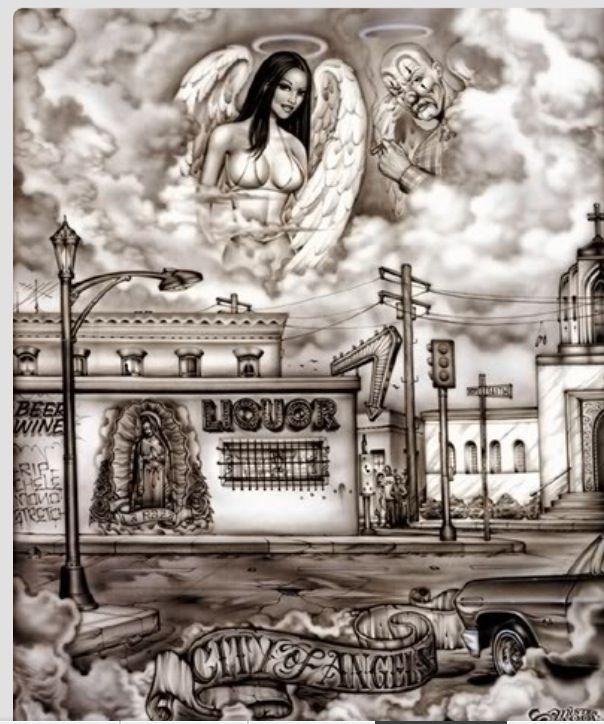 Angel Baby Latino Arte In 2019 Chicano Drawings Chicano Art