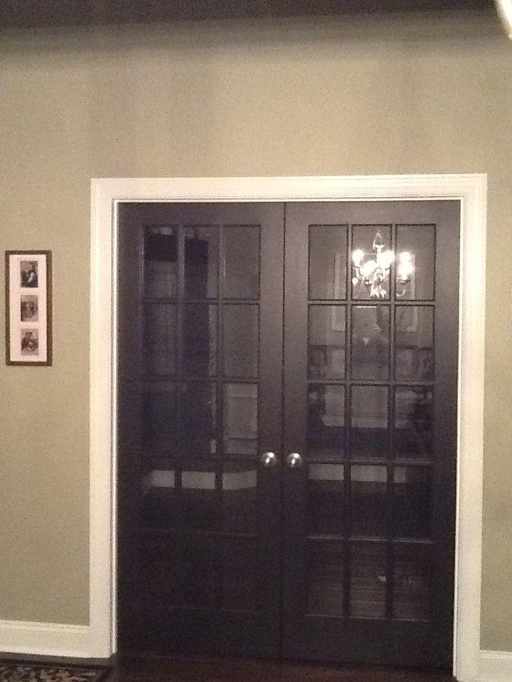 Martha Stewart Sillouette Paint French Doors Black Black Interior Doors French Doors Painted Interior Doors