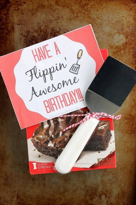 Have a Flippin' Awesome Birthday (Gift Idea) | Dessert Now, Dinner Later!