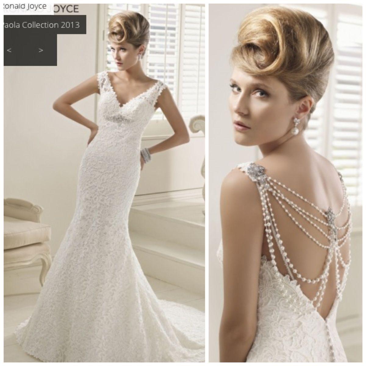 Vintage Style Wedding Dress Ronald Joyce 2013 Collection