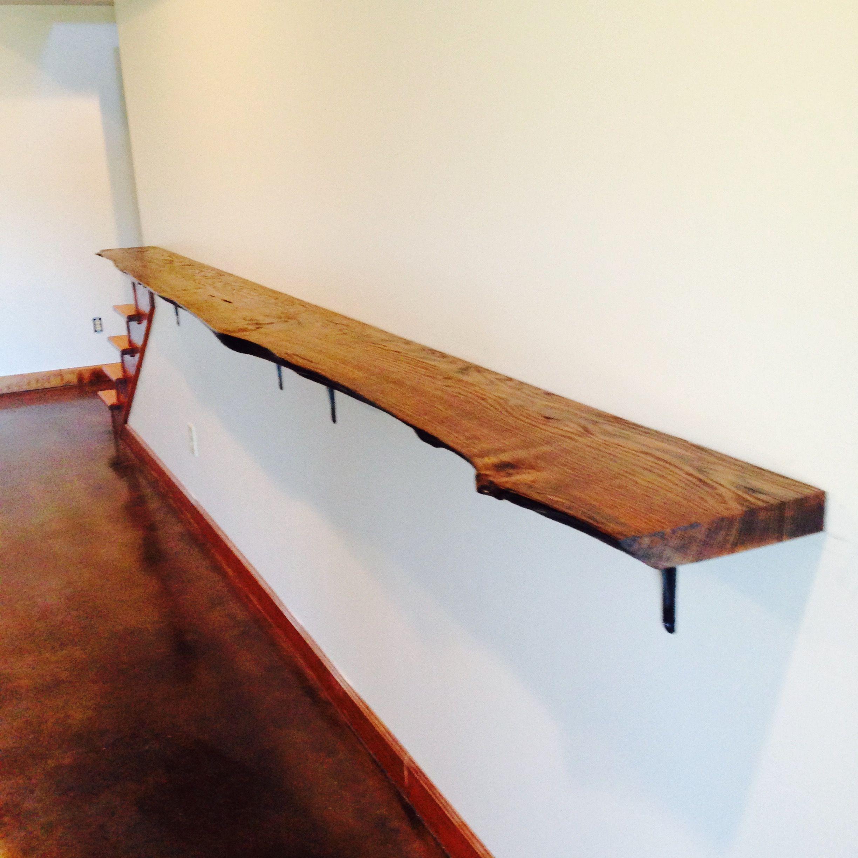 Live edge red oak drink rail. Basement Bar. | Pool table ...