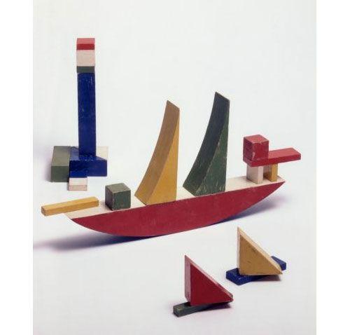 Alma Siedhoff-Buscher | smalll ship building game, 1923 ✭ vintage toy mid century kids design