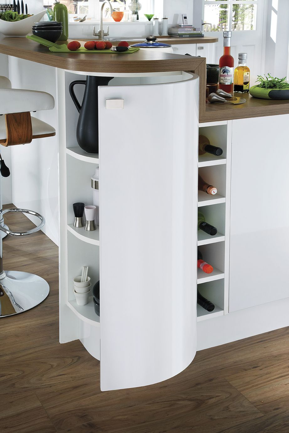 Create storage within your kitchen island with our bespoke wine rack ...
