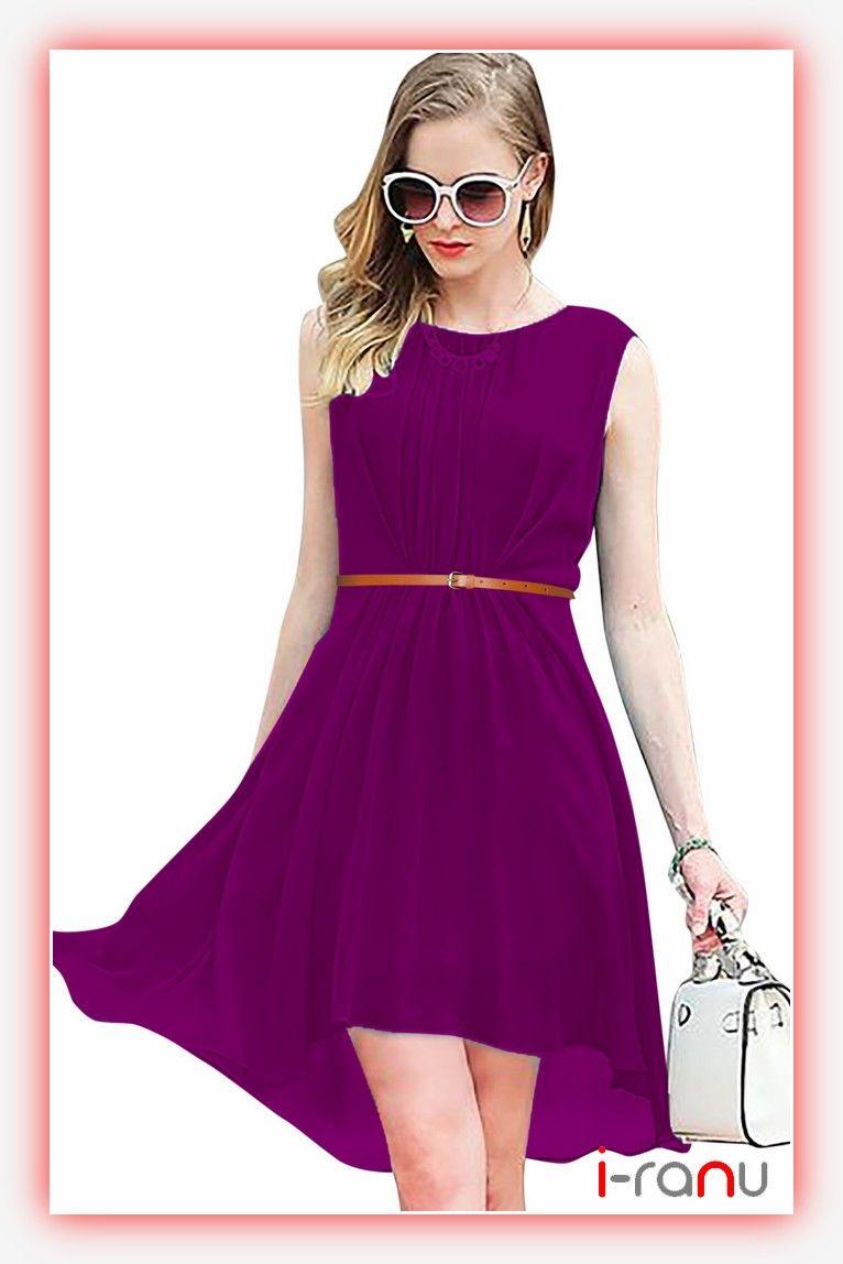 18a5debd383d Sydney georgette wine long dress for girls