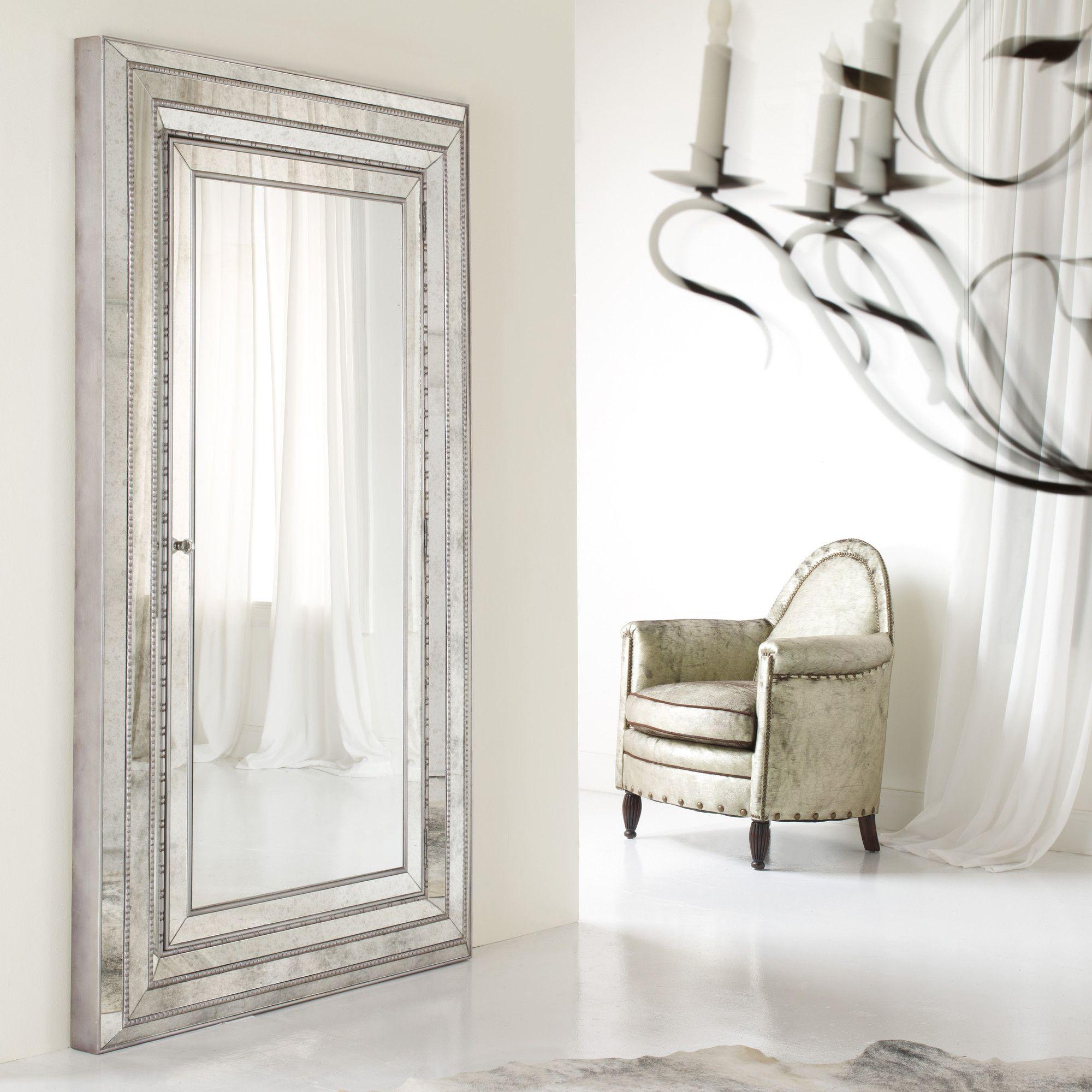 Hooker furniture melange glamour floor mirror u reviews wayfair