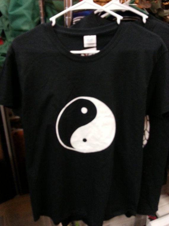 black yin yang mens cut tshirt by woodcraftsbystu on Etsy, $12.00