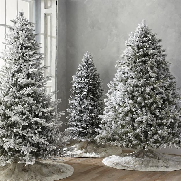 Flocked Norway Spruce 7 1 2 Full Profile Tree With Meteor