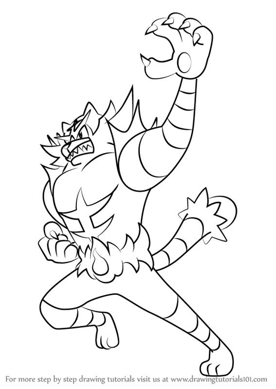 How To Draw Incineroar From Pokemon Sun And Moon Drawingtutorials101 Com Pokemon Coloring Pages Pokemon Sketch Pokemon Sun