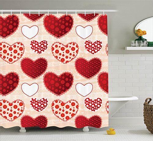 Ambesonne Love Decor Collection Love Valentines Day Patchwork Warm