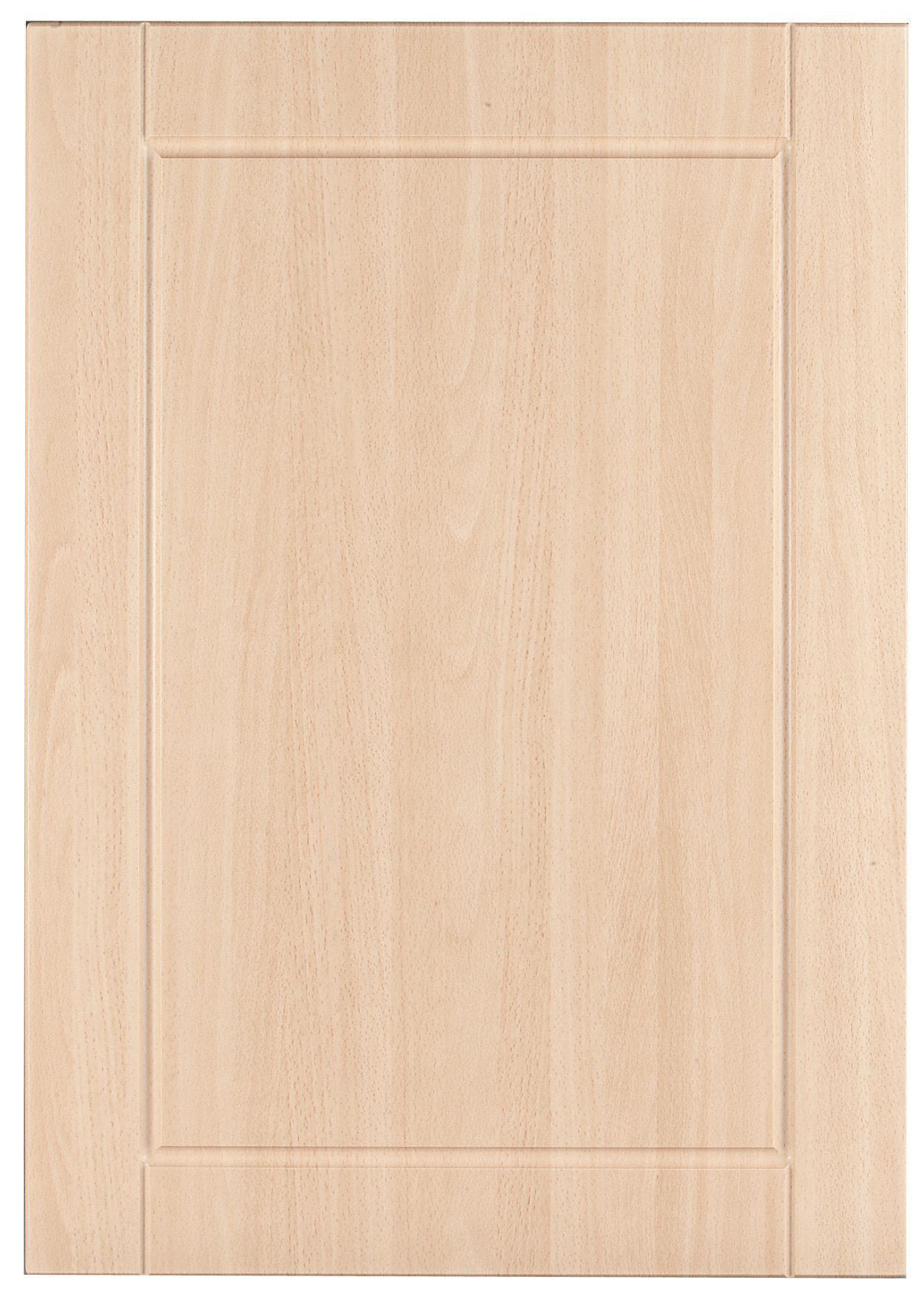 It Kitchens Chilton Beech Effect Standard Door W 500mm Departments Diy At B Q Beech Chilton Doors