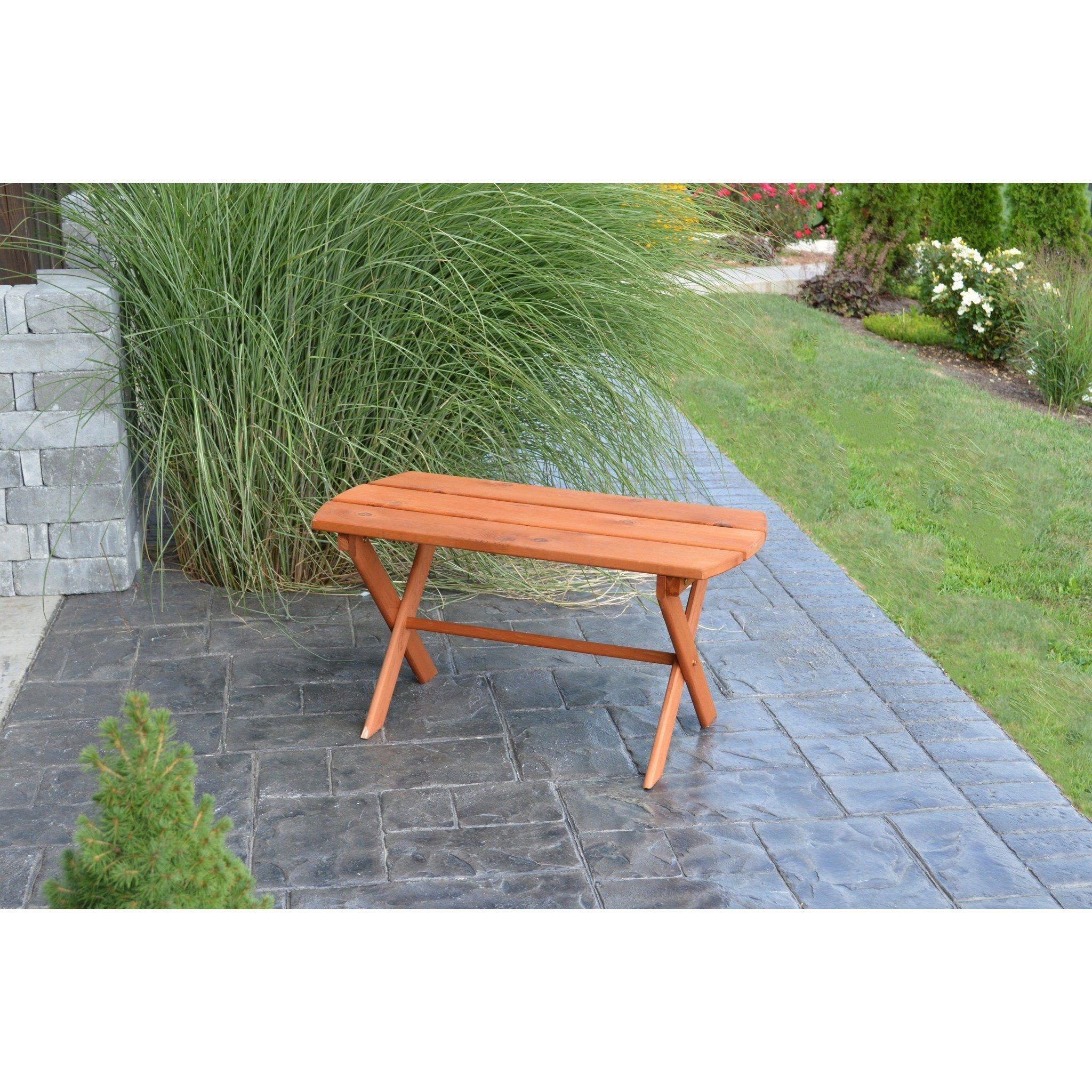 Al furniture co western red cedar folding coffee table