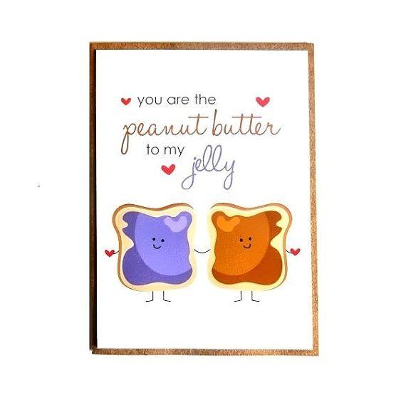 I Love Peanut Butter Birthday Card Greeting Card