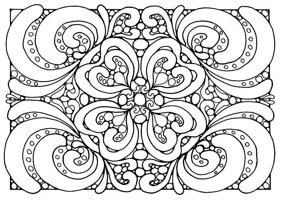 Free coloring page coloring adult patterns Zen Coloring page