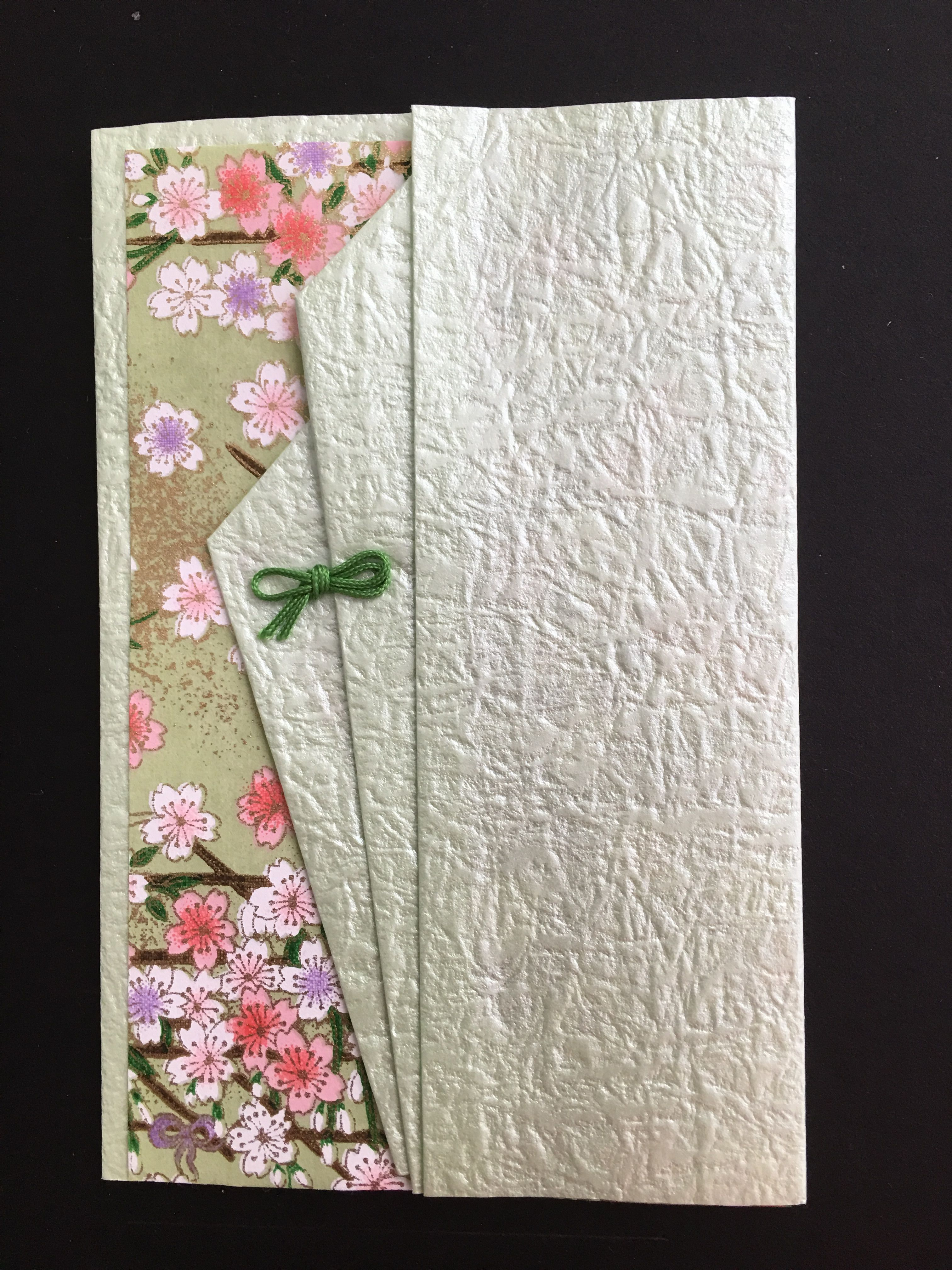 Handmade Greeting Card Beautiful Japanese Papers Folded