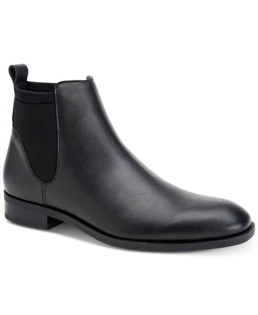 Calvin Klein Men's Dai Leather Dress Boots - All Men's Shoes - Men - Macy's