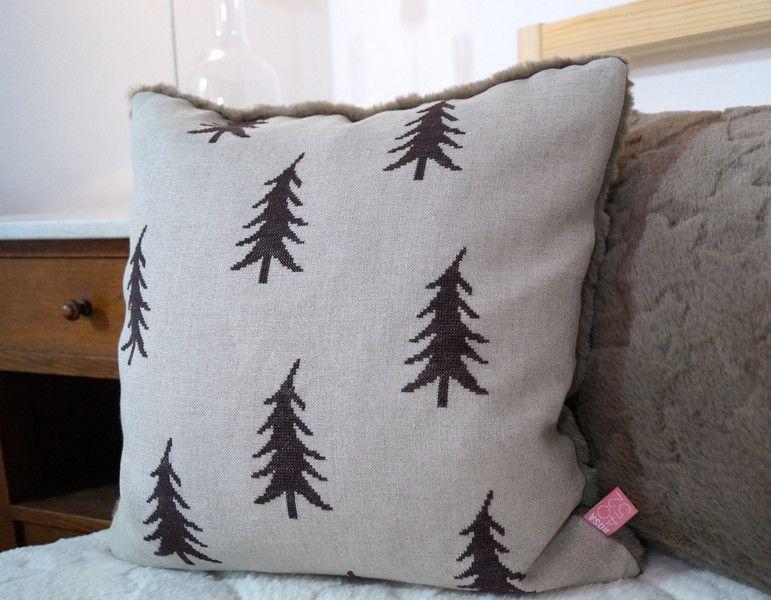 Winter Kissen Tannenbäume Kreuzstich Ein Designerstück