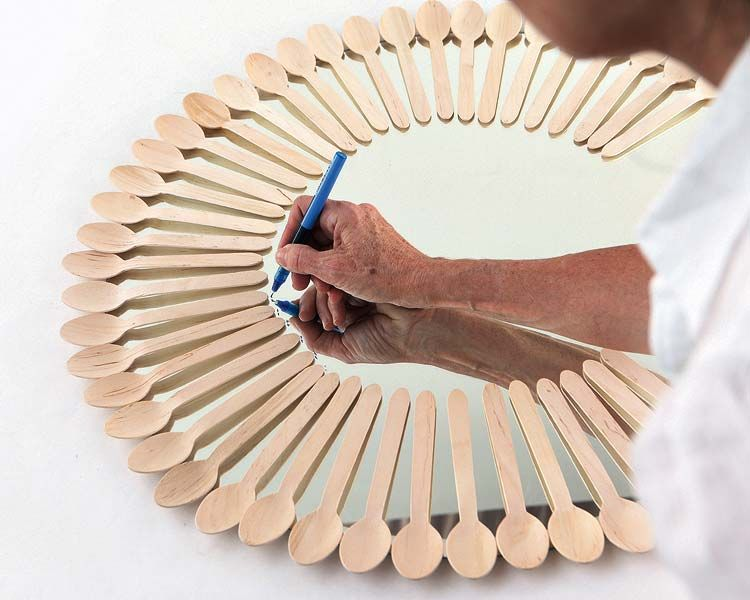 DIY marco de espejo cucharas manualidades homepersonalshopper