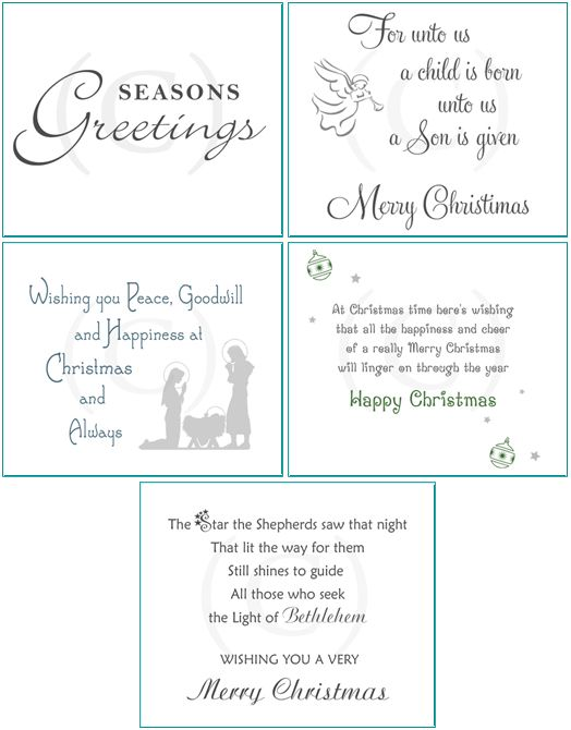 25 Card Inserts •• CHRISTMAS Verses #2 •• pre-cut for handmade ...