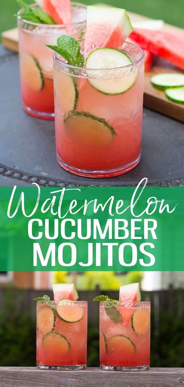 Watermelon & Cucumber Mojitos - The Girl on Bloor #refreshingsummerdrinks