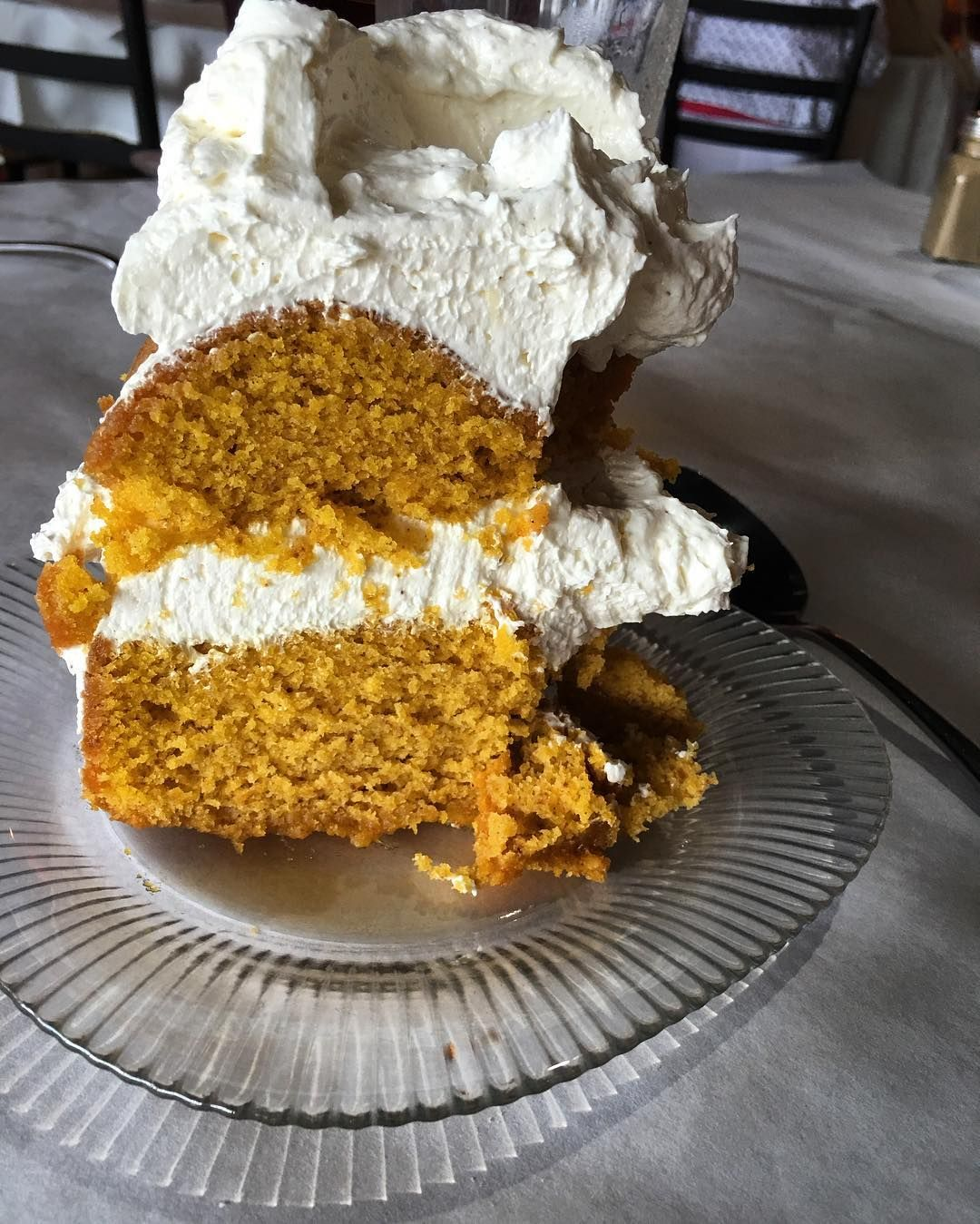 So... True confession. Fall is my favorite season. However, it is still summertime... And 90 degrees and humid and the leaves and grass are all green. Some crepe myrtles are still blooming, y'all. But this Pumpkin Spice Cake at lunch today slammed me right into fall. At least for a moment. @robinl09 @jeg.noble @jamesfarmerinc #atlanta #interiordesign #workday #almostfall #stillsummertime #pumpkinspicecake #cafelapin #peachtreebattle #southernstyle #farmerstyle 🍂🍁🙈🎃🍰