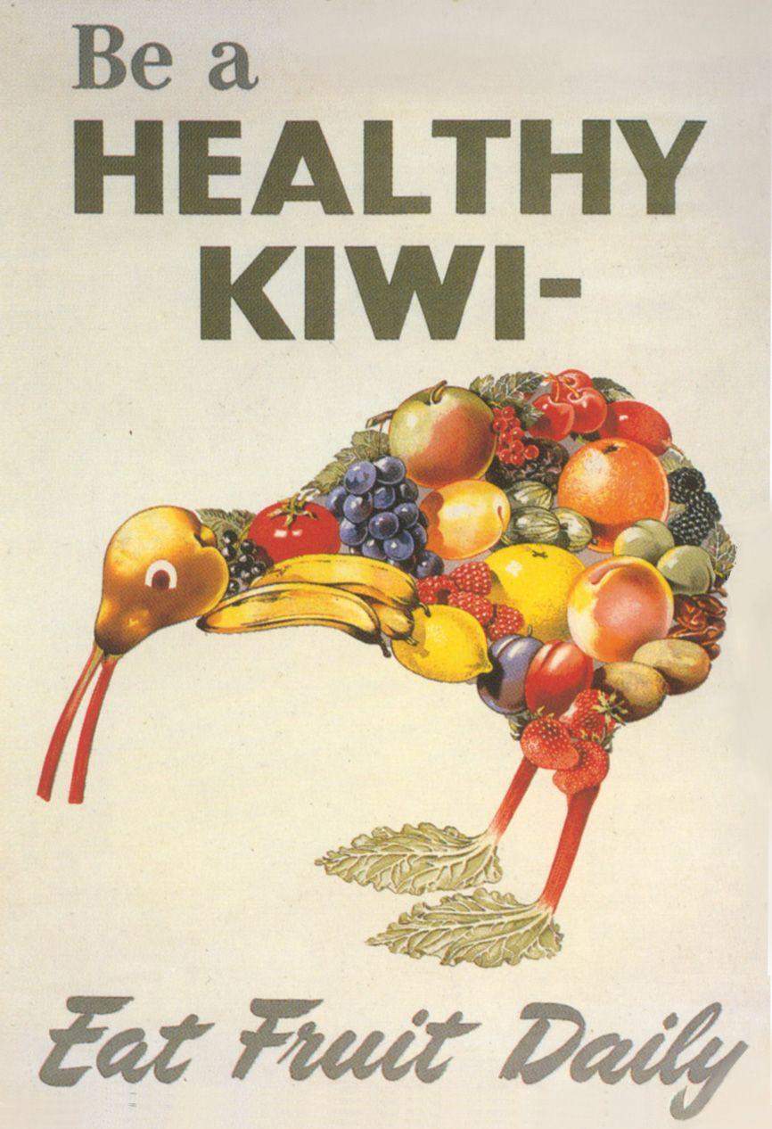 Artwork New Zealand Kiwi Psa Food Kiwi Kitchen Art