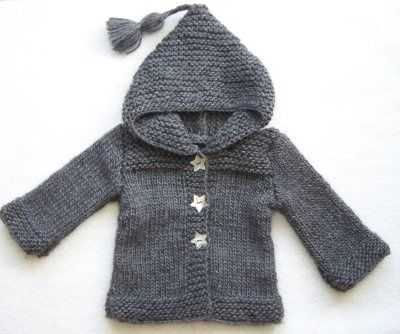 Small gray mohair coat so soft, pearl buttons star. | Knitting ...
