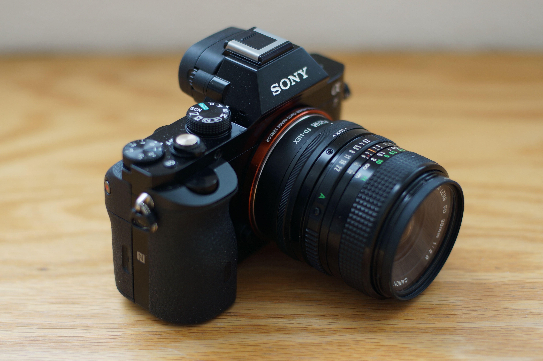 My Sony A7 Canon Fd 28mm F2 8 Sony A7 Sony Binoculars