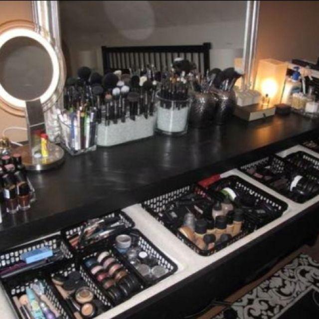 Makeup Vanity Organization Malm Dressing Table Beauty Room