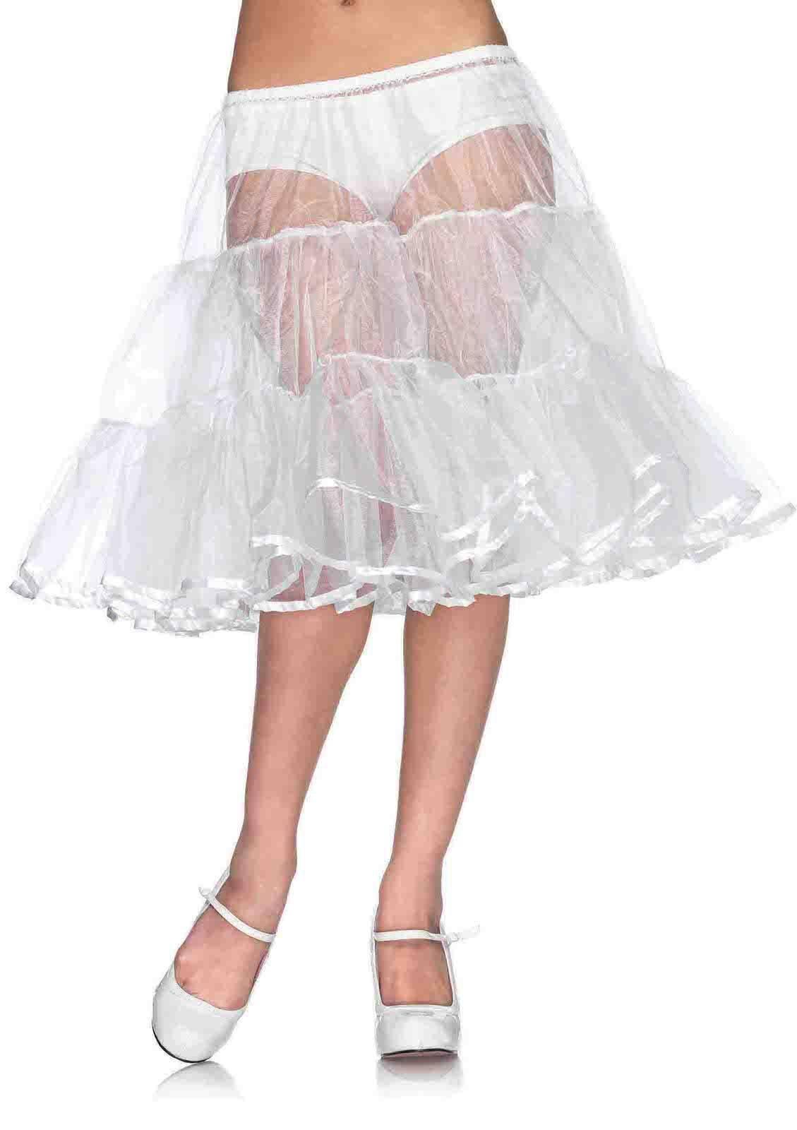 Leg Avenue Women/'s Shimmer Knee Length Petticoat Skirt Black One Size Costume
