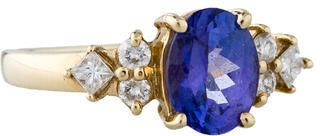 1.50ctw Tanzanite & Diamond Ring on shopstyle.com