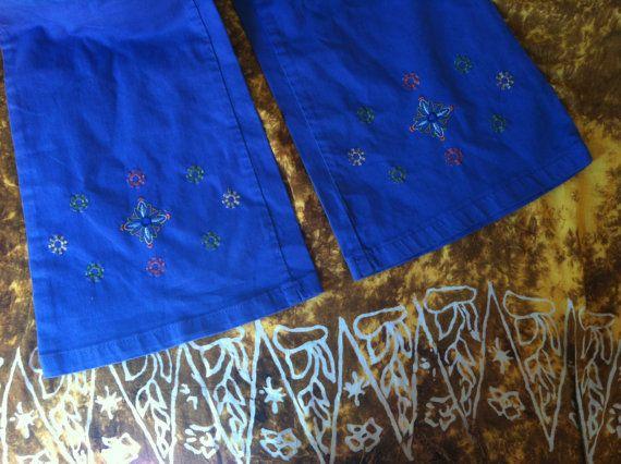 Bell vintage-broek campana-pantalon broek door VintageBeachHut