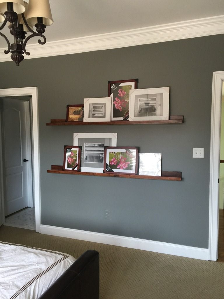 How To Build Pottery Barn Style Photo Shelves Cheap Home Decor